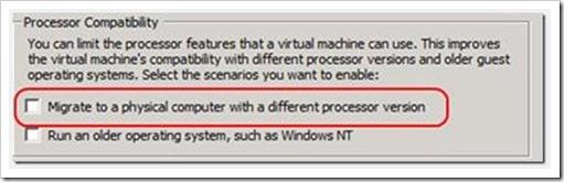 Processor Compatibility