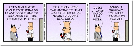 Dilbert on Cloud Computing