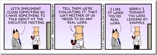 Dilbert on Cloud Computing
