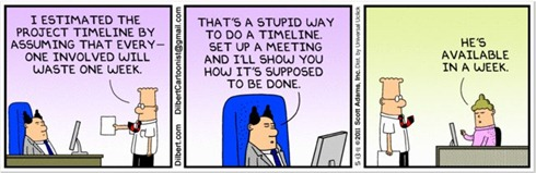 Dilbert on project management