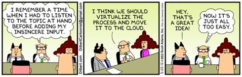 Dilbert - move it to the cloud